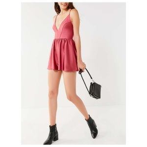 NWOT Urban Outfitters stretch satin romper